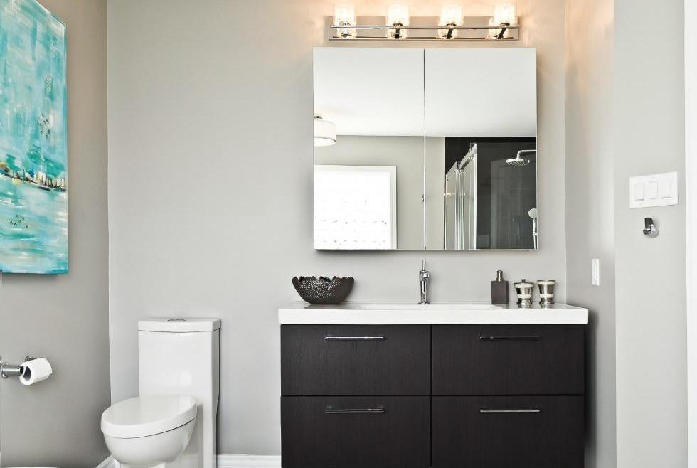 Aperture Bathroom Renovation Ottawa – vanity and toilet