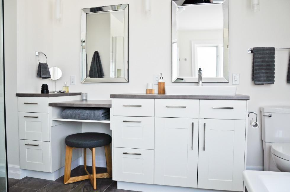 Radiance Bathroom Renovation Ottawa – His and Her Vanity